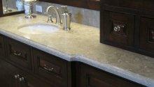 Limestone slab countertop